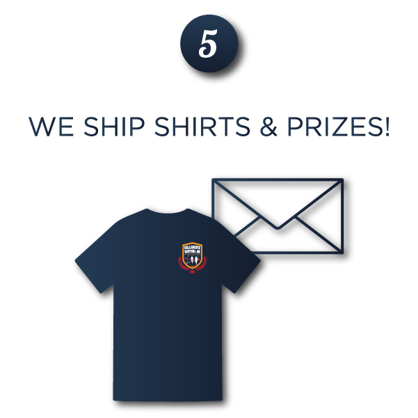 Step 5: We Ship Shirts and Prizes